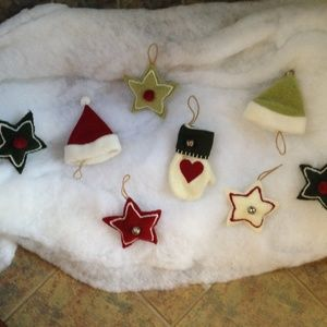 WOOF & POOF - Hanging Ornaments - Excellent Cond.